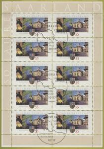 2581 50 Jahre Bundesland Saarland - 10er-Bogen auf Kartonvorlage, ESST