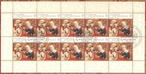 2628 Heilige Elisabeth von Thüringen - 10er-Bogen auf Kartonvorlage, ESST