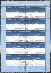 2732 Europa/CEPT: Keplersche Gesetze -10er-Bogen auf Kartonvorlage, ESST