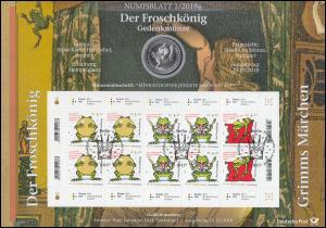 3357-3359 Grimms Märchen: Der Froschkönig - Numisblatt 1/2018