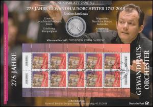 3385 Tag der Musik: 275 Jahre Gewandhausorchester Leipzig - Numisblatt 2/2018
