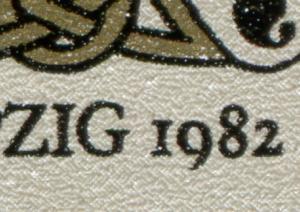 2697-2698 Buchkunst-ZD 1982 mit PLF bei 2697: unten verkürzte 9 in 1982, **