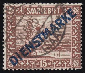 Dienstmarke 4 III Aufdruckmarke mit PLF III, gestempelt, BPP-geprüft Hoffmann