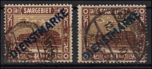 Dienstmarke 8 Aufdruckmarke: je eine Marke normaler und hellblauer Aufdruck, O