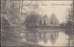 Feldpost 4. Landsturm-Inf. Augsburg, AUBEL 10.5.1915 auf AK Liege Lüttich
