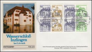 HBl. 27I aus MH 22I BuS Bdr. 1980, neue Fluoreszenz auf Schmuck-FDC 16.07.1980