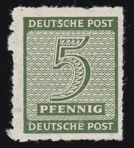 116CY Ziffern 5 Pf. Postmeistertrennung Roßwein, postfrisch **, BPP-geprüft