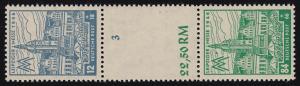 163+165 Messe-Zusammendruck S Zd 8 AY d, postfrisch Befund Jasch BPP einwandfrei