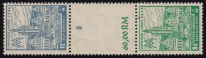 163+165 Messe-Zusammendruck S Zd 8 AXd postfrisch Befund Jasch BPP einwandfrei