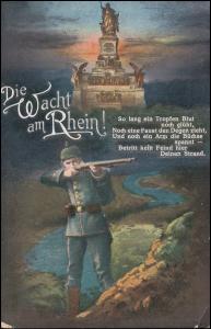 Feldpost Res. Artillerie-Regiment 19 - 3. Batterie 30.8.15 auf AK Wacht am Rhein