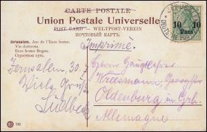 Deutsche Post in der Türkei 24 Germania DEUTSCHE POST JERUSALEM 1.8. auf AK