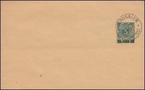 Deutsche Post Jerusalem 15.9.1900 auf Streifband S 1 als Blanko-Abstempelung