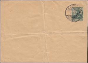 Deutsche Post Jerusalem 23.8.1909 auf Streifband S 6 - Blanko-Abstempelung