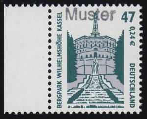 2176 SWK 47 Pf. Bergpark Wilhelmshöhe Kassel, Muster-Aufdruck