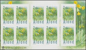 Aland 156 Pflanzen Schlüsselblume - Folienblatt ** postfrisch