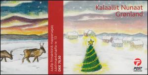 Grönland Markenheftchen 523-524 Weihnachten 2008, selbstklebend, ** postfrisch