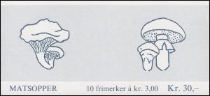 Norwegen Markenheftchen 11 Pilze Mushrooms Sopp 1988, ** postfrisch