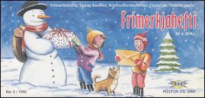 Island Markenheftchen 774 Weihnachten 300 Kr. 1992, ** postfrisch