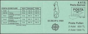 Türkisch-Zypern Markenheftchen 2 Europa / Cept Kinderspiele, **