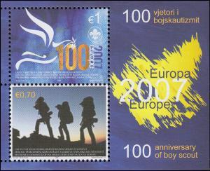2007 Kosovo 68-69 Block 6 Pfadfinder, postfrisch **
