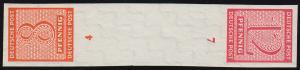 Ziffern-Zusammendruck SK Zd 3, ungezähnt 8+12 Pf. kopfstehend, postfrisch **