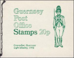 Guernsey Markenheftchen 0-5b Uniformen 1973 Grenadier Light Infantry **