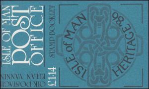 Isle of Man Markenheftchen 11, Freimarken Kulturerbe 1,14 Pfund 1986, **