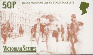 Isle of Man Markenheftchen 13, Viktorianische Szenen 1987, ** postfrisch