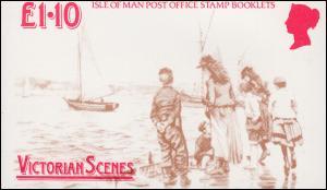 Isle of Man Markenheftchen 14, Viktorianische Szenen 1987, ** postfrisch