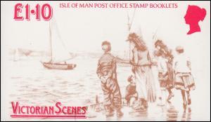 Isle of Man Markenheftchen 15, Viktorianische Szenen 1987, ** postfrisch