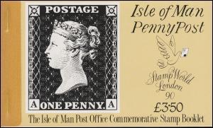 Isle of Man Markenheftchen 23, 150 Jahre Briefmarken 1990, ** postfrisch