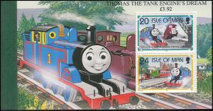 Isle of Man Markenheftchen 34, Die Lokomotive Thomas, ** postfrisch