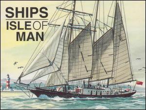 Isle of Man Markenheftchen 36, Schiffe 96 Pence 1996, ** postfrisch