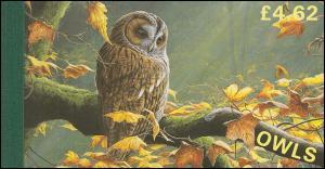 Isle of Man Markenheftchen 38, Eulen OWLS 1997, ** postfrisch