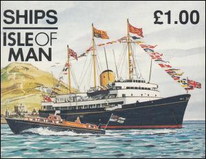 Isle of Man Markenheftchen 39, Schiffe 1 Pfund 1997, ** postfrisch