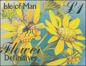 Isle of Man Markenheftchen 41, Blumen FLOWER 1998, ** postfrisch