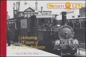 Isle of Man Markenheftchen 43, 125 Jahre Eisenbahn of Man, ** postfrisch