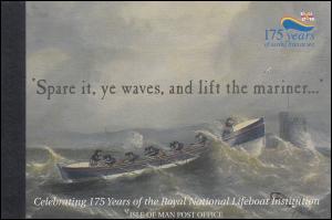 Isle of Man Markenheftchen 44, Lebensrettungsgesellschaft Seerettung, **