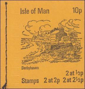 Isle of Man Markenheftchen 0-1, Ansichten 10 Pence 1973, ** postfrisch