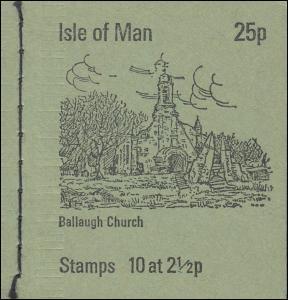 Isle of Man Markenheftchen 0-2, Ansichten 25 Pence 1973, ** postfrisch