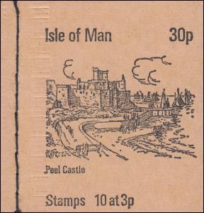 Isle of Man Markenheftchen 0-3, Ansichten 30 Pence 1973, ** postfrisch