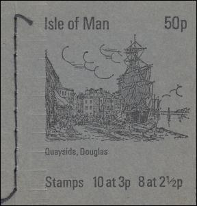 Isle of Man Markenheftchen 0-4, Ansichten 50 Pence 1973, ** postfrisch