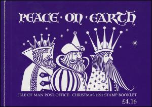 Isle of Man Markenheftchen 0-8, Weihnachten 1991, ** postfrisch
