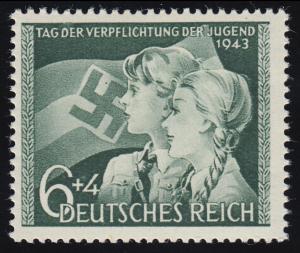 843(I) Tag der Jugend 1943 - beginnender PLF I abgeschrägtes D im ersten DER, **