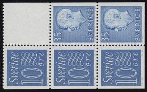 Schweden Heftchenblatt 18 aus MH 5ab Ziffern / König Gustav VI. Adolf **