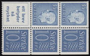 Schweden Heftchenblatt 23 aus MH 6ab Ziffern / König Gustav VI. Adolf **