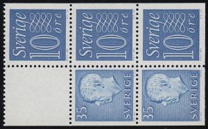 Schweden Heftchenblatt 17 aus MH 5aa Ziffern / König Gustav VI. Adolf **
