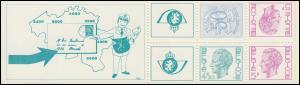 Belgien-Markenheftchen 26 Löwe und König Baudouin 15 Franc, mit Zählbalken **