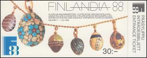 Finnland Markenheftchen 21 FINLANDIA'88 , ** postfrisch