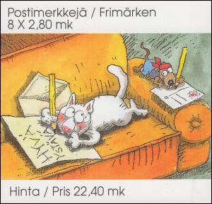 Finnland Markenheftchen 38 Valentinstag, ** postfrisch